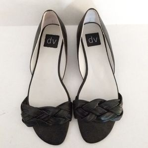 DV Slip on Flats Braided Black Size 7.5